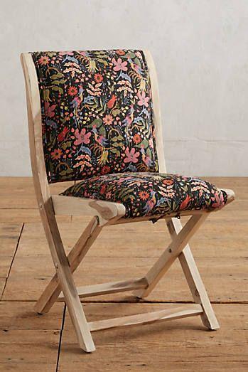 Terai Folding Chair Dining Chair Rifle Paper Wooden