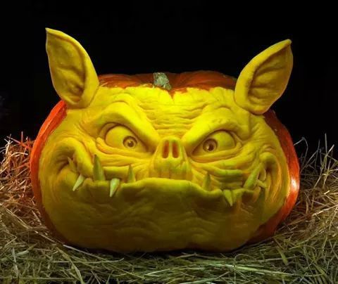 Scary pumpkin.