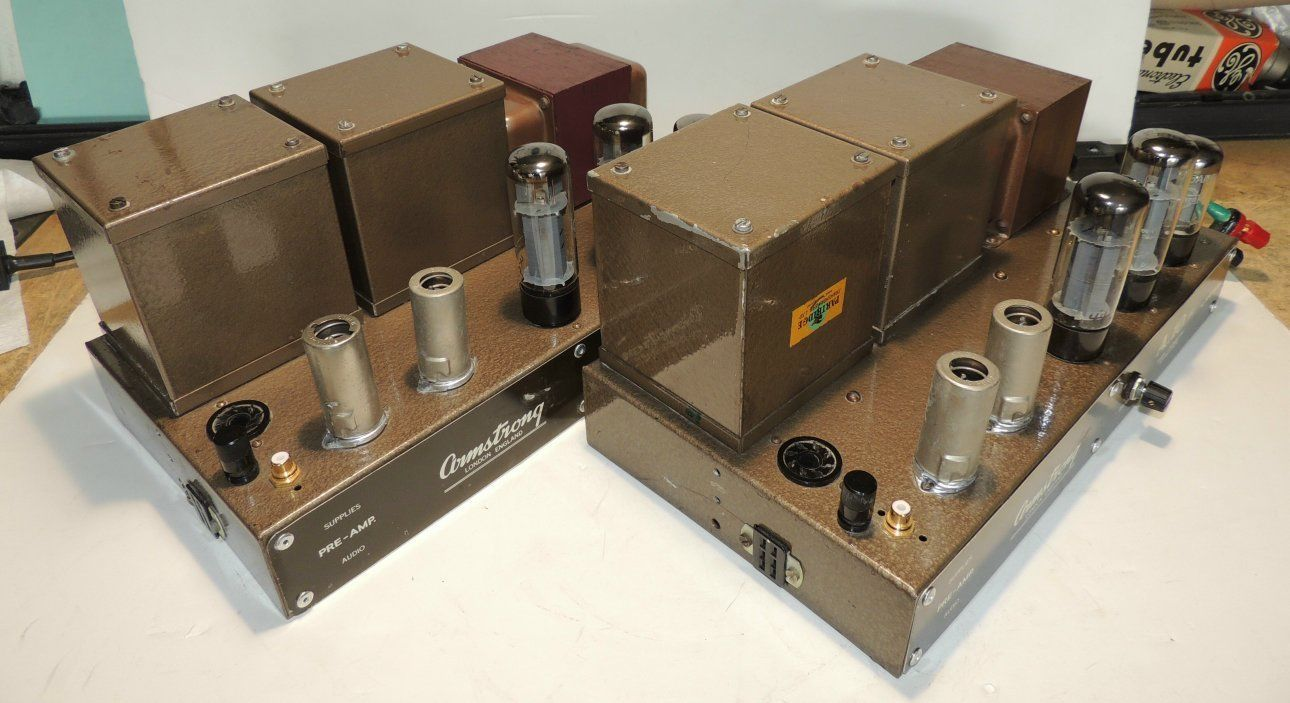 Pair Armstrong A 10 MKII Valve Tube Amplifiers from England 220 240V 50 60Hz…