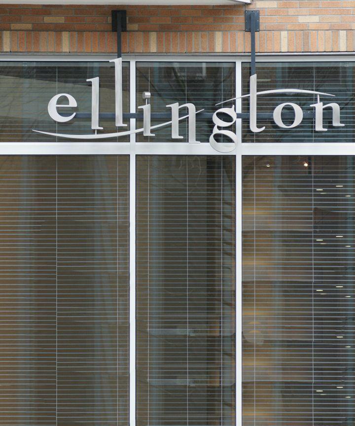 Ellington - Aluminum Letters Waterjet Cut for an Apartment ...