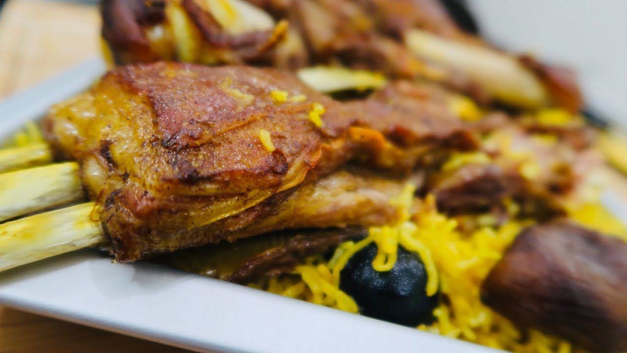 مندى اللحم فى فرن البيت نفس طعم المطاعم وأحلى Mandi In Home Oven Middle Eastern Recipes Basmati Rice Recipes Food