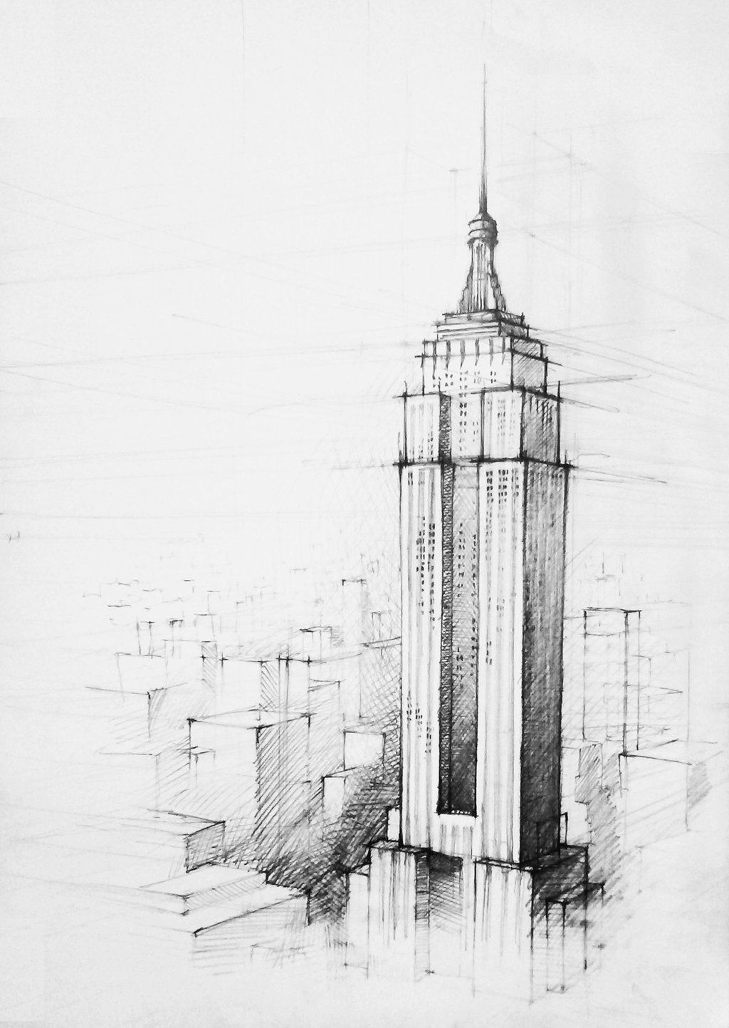 Empire State Building By Derbaku On Deviantart Empire State Building Drawing Architecture Drawing Sketchbooks City Drawing
