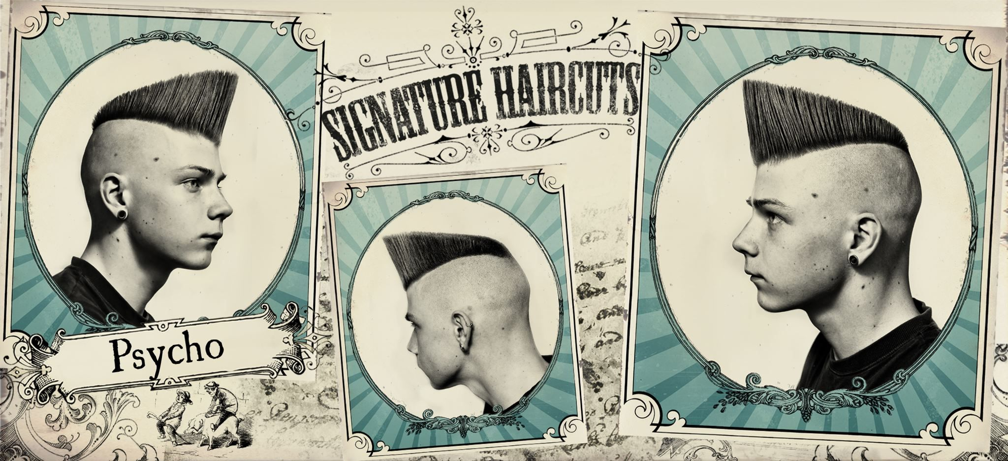 the psycho psychobilly quiff signature haircuts barbershop classics pinterest. Black Bedroom Furniture Sets. Home Design Ideas