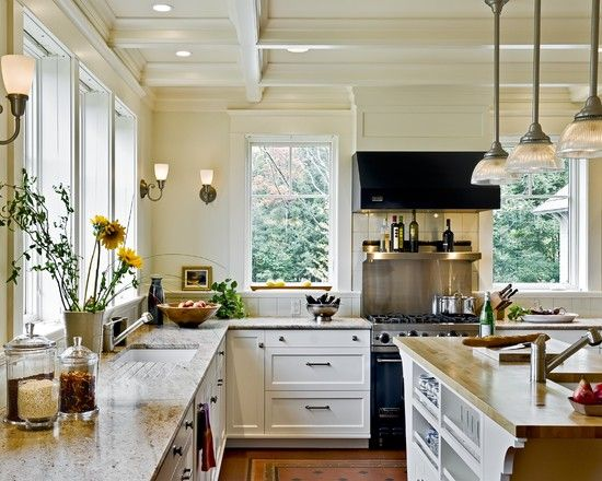 Kitchen benjamin moore walls bone white cabinets and trim for Bone white kitchen cabinets