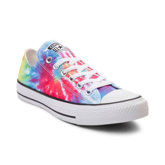 d478ff9ba5b Tie Dye Converse Rainbow Boho 60s Canvas Pride Low Top w/ Swarovski ...