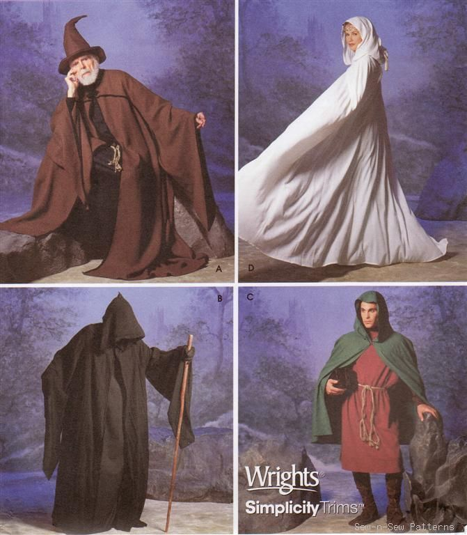 Adult wizard costume pattern