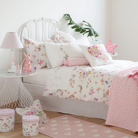 linge de lit imprim papillons chambre mini linge de. Black Bedroom Furniture Sets. Home Design Ideas