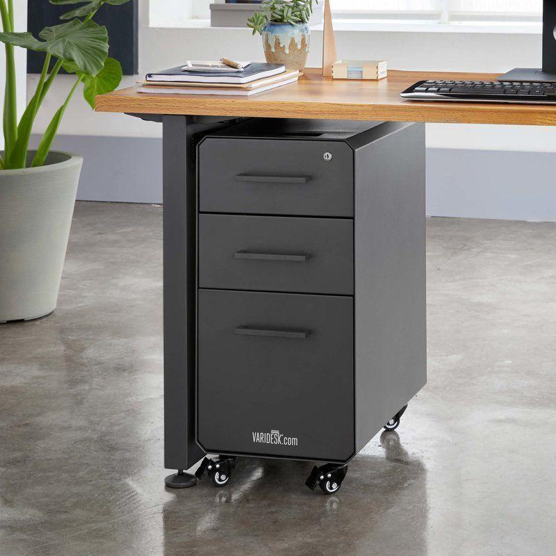 Slim 3 Drawer Vertical Filing Cabinet Filing Cabinet Under Desk Storage Rolling File Cabinet