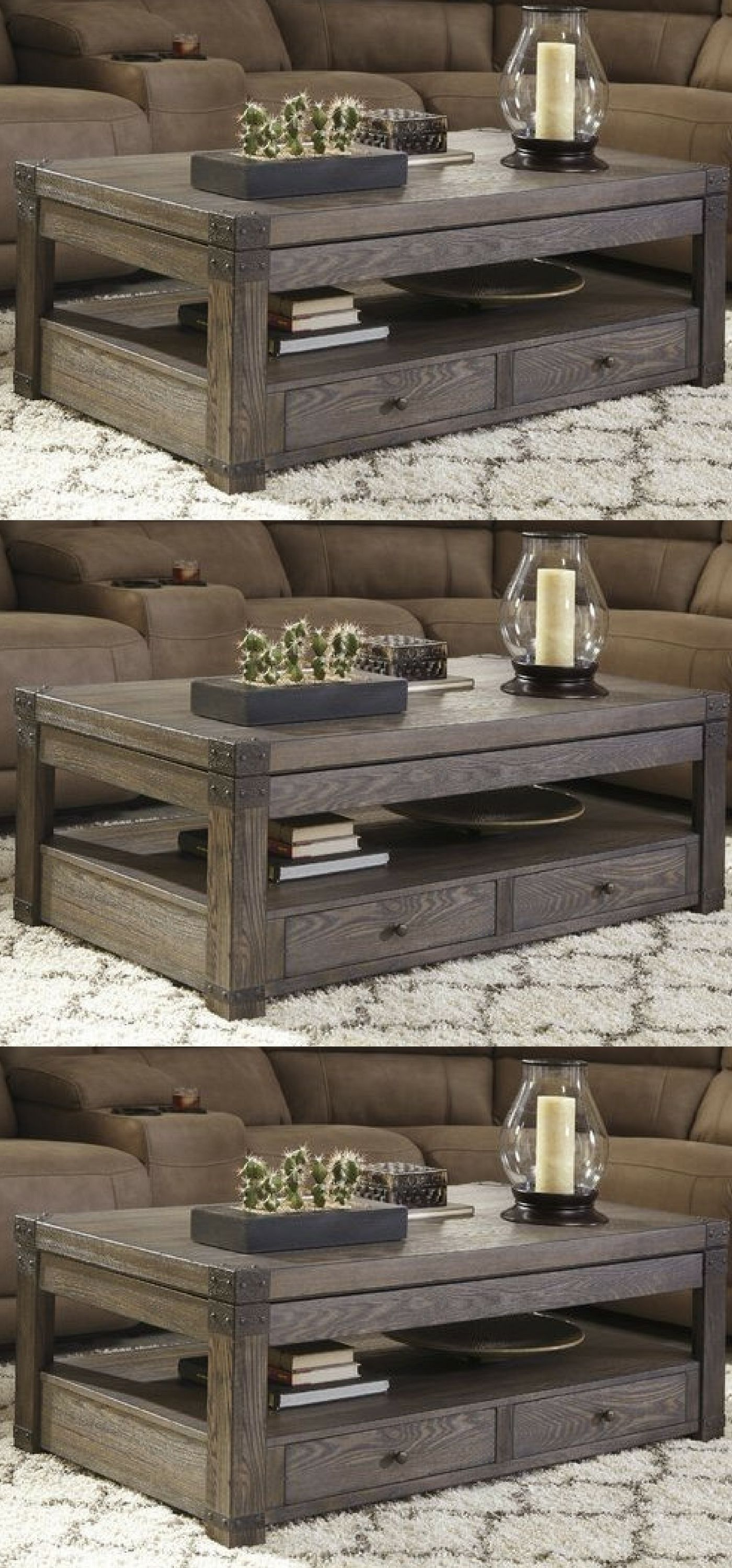Drawing Inspiration From Rustic, Industrial, And Traditional Style, This Solid  Wood Lift Top Coffee Table Anchors Your Favorite Seating Group In ...