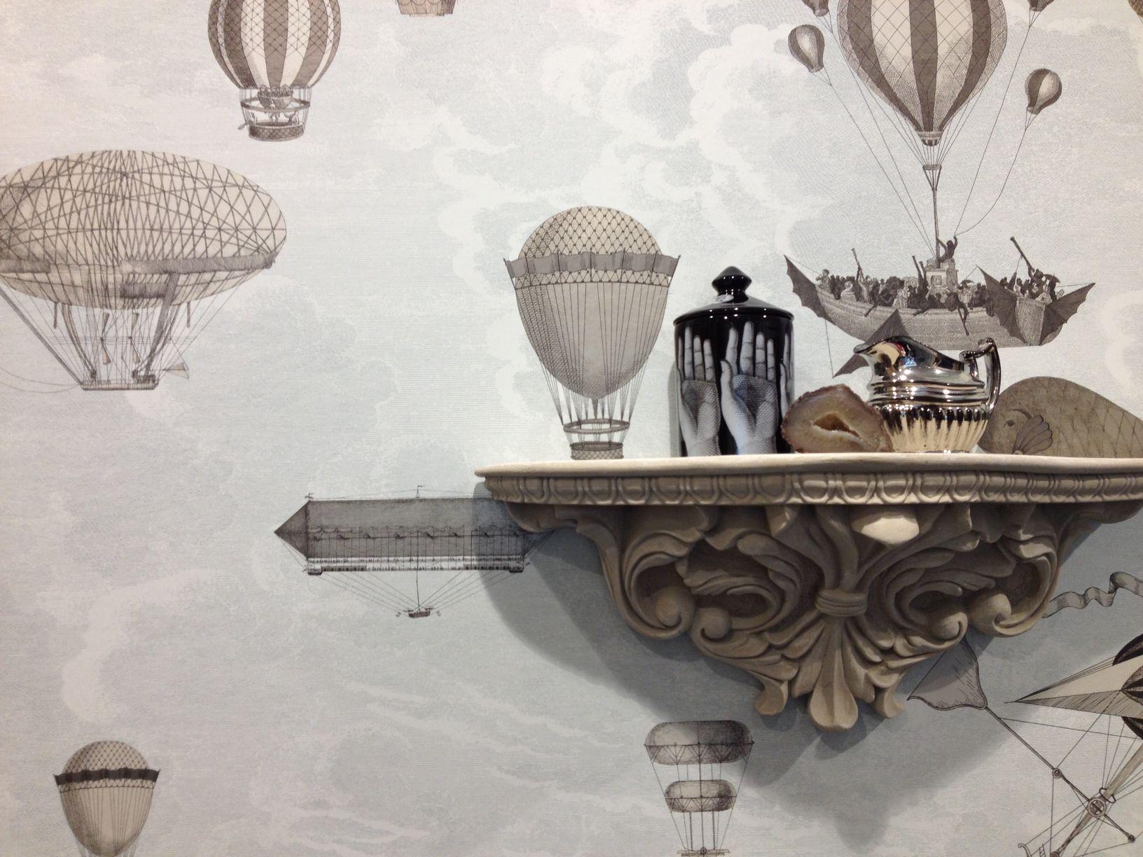 Fornasetti Ii Macchine Volanti In The Cole & Son Showroom