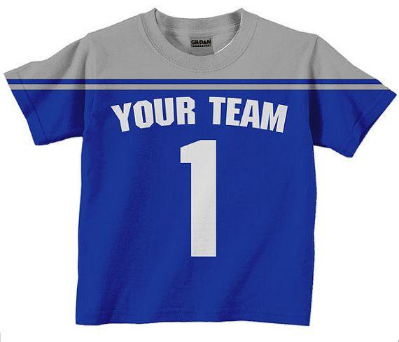 newest 89ae4 dcd4a Football Jersey Shirt - Boy's Personalized Football T-Shirt ...