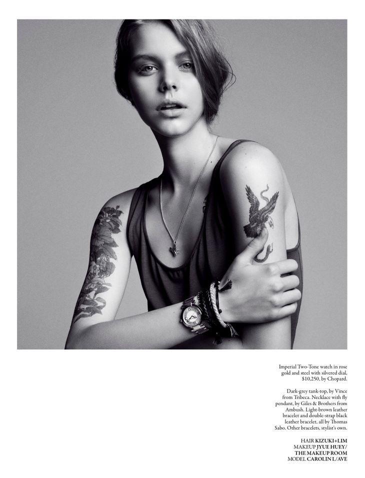 Carolin Loosen for Style Singapore July 2011 by Stefan Khoo  tattoo