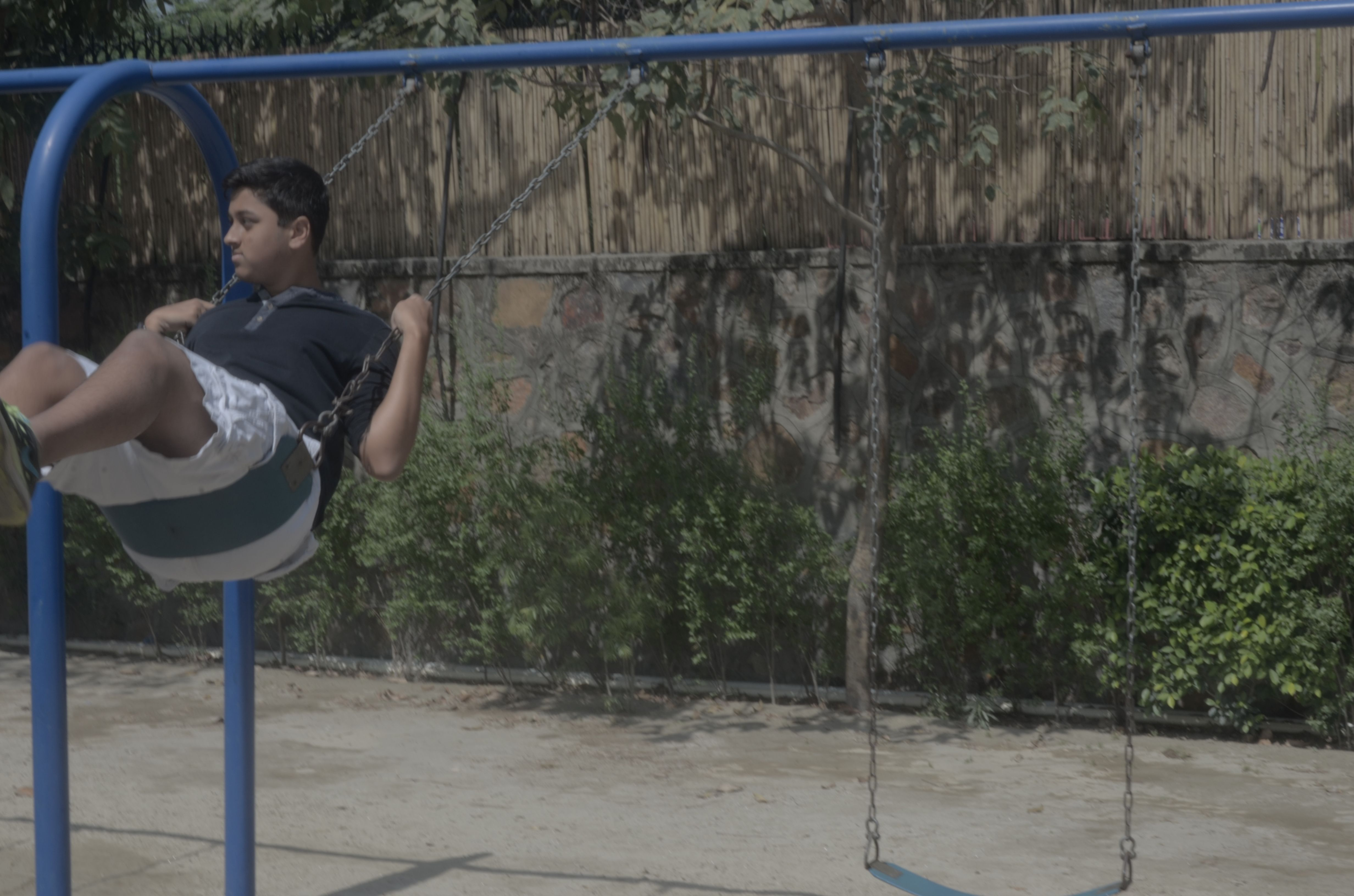 Nilay on the swings