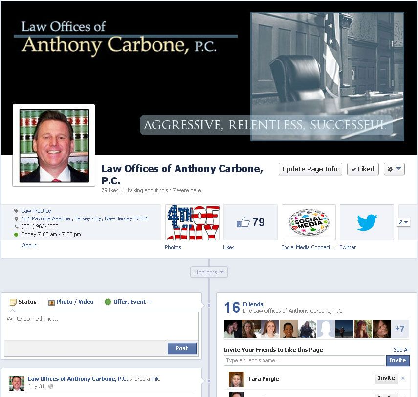 The Law Offices of Anthony Carbone Personal injury