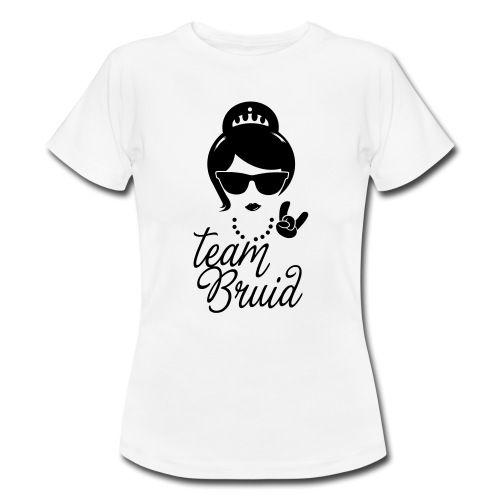 Super team Bruid bruiloft trouwen vrijgezellenfeest T-shirts - Vrouwen T KD-61
