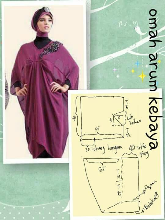 Pin by Safrida wahab on Pola Busana | Pinterest | Kaftan, Patterns ...
