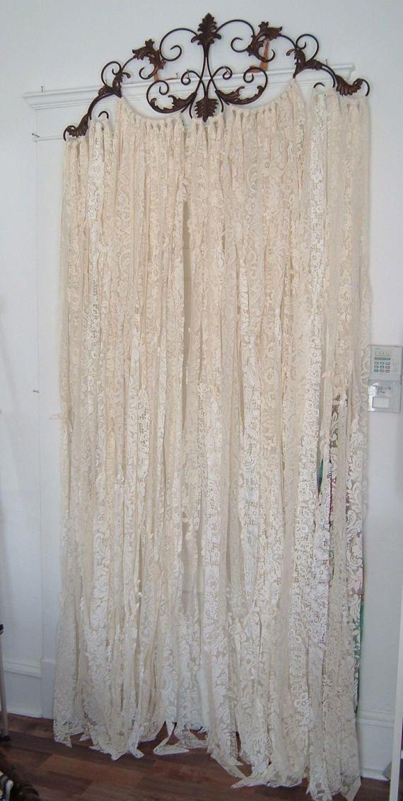 Photo of Curtains, Home decor, Diy bedroom decor, Shabby chic curtains, Shabby decor, Sha…