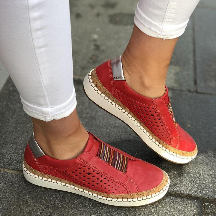 Round Toe Casual Sneakers – getdoor