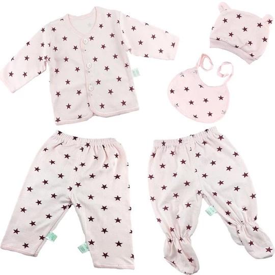 4PCS Set Newborn Baby Clothes Infant Bebes Short Sleeve Mini Mama Bodysuit Rompe