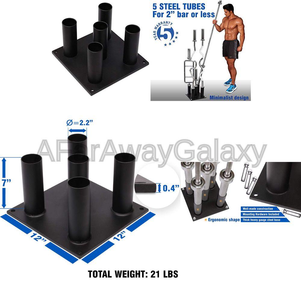 Yes4All Barbell Holder Vertical Storage Rack for Olympic Bar 5 Bars, 9 Bars