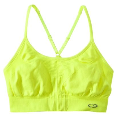 C9 by Champion® Womens Seamless Cami Bra - Neon yellow sports bra ...