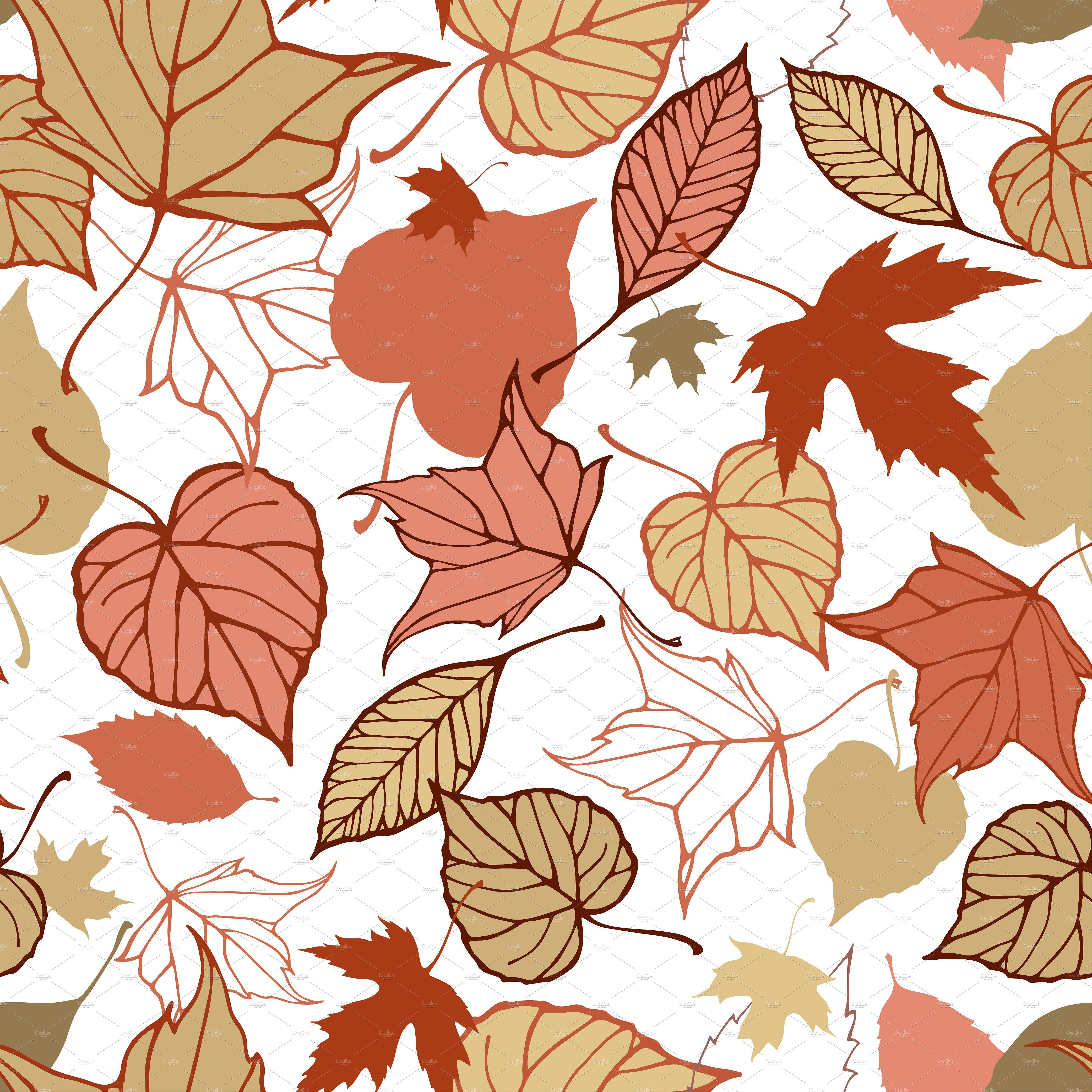 - Fall Leaves Patterns+illustrations (With Images) Leaf