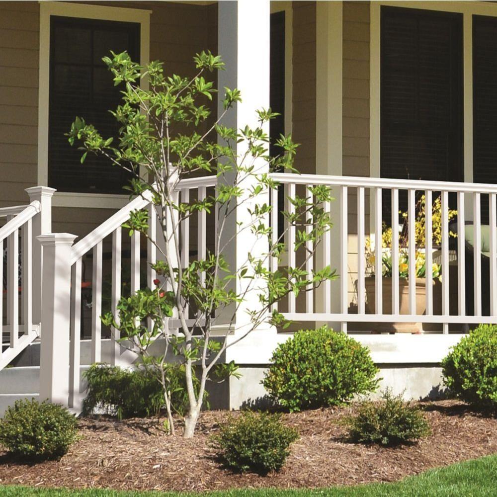 Veranda Traditional 8 Ft X 36 In White Polycomposite Rail Kit | Veranda Traditional Stair Railing | Ebay | Porch Railing | Porch Deck | Deck Stair | Composite Decking