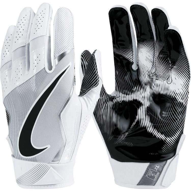 Nike Vapor Jet 4 0 Receiver Gloves White Black Football Gloves Nike Vapor Football Accessories