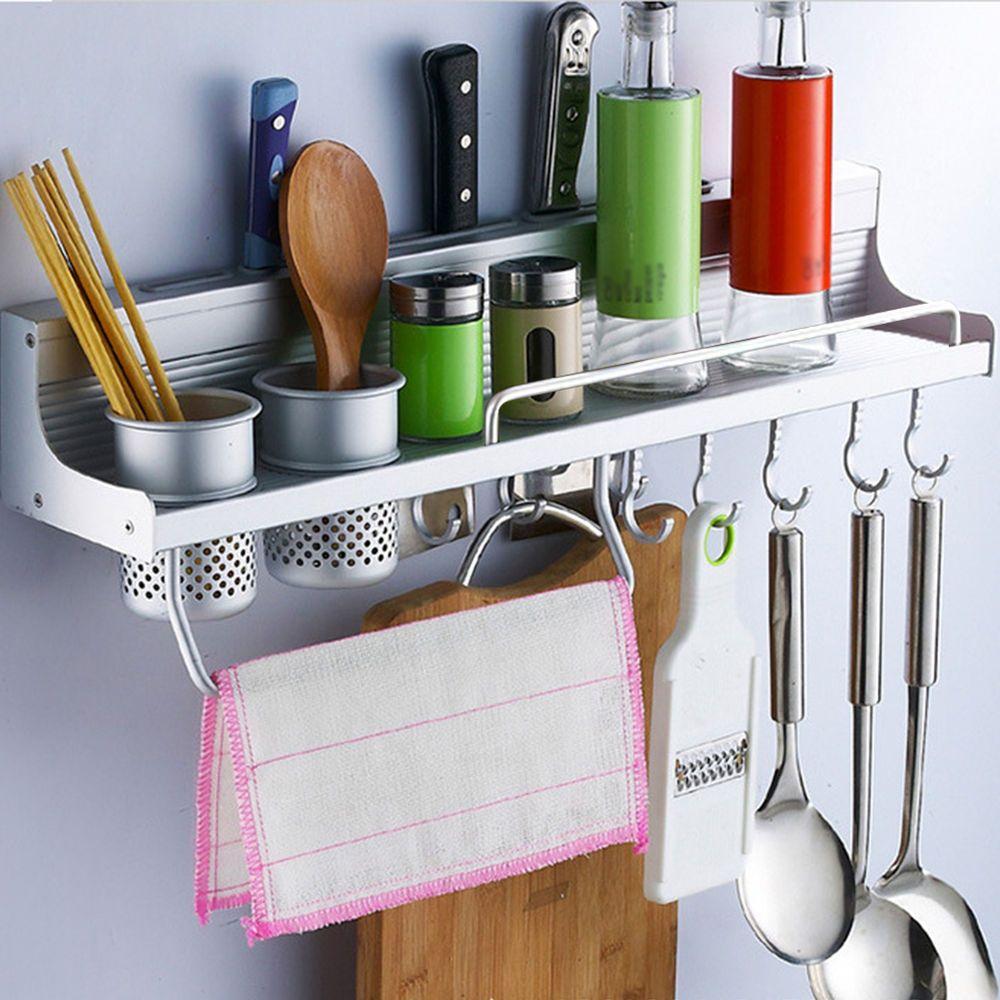 Alloy Kitchen Wall Organizer Storage Spice Rack Utensil ...