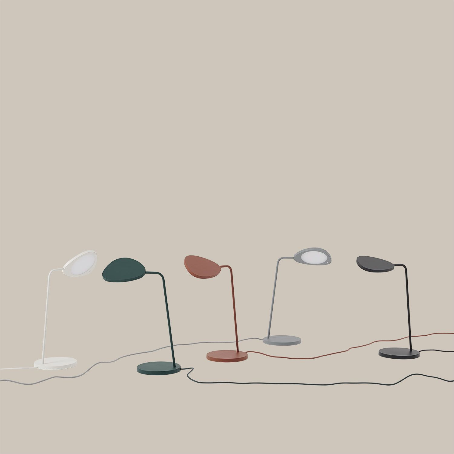 Colorful And Modern Home Office Table Lamp Decor From Muuto A Sleek And Contemporary Addition To Any Home Or Professional Sp In 2020 Leaf Table Lamp Table Lamp Office