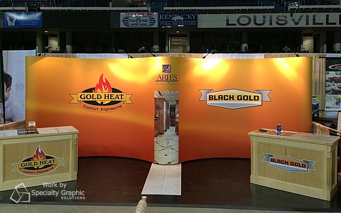 This 20 Foot Trade Show Display We Made For Elwell Corp And Aries Engineering Commanded The Attention Of The Exhi Trade Show Display Exhibition Space Kentucky