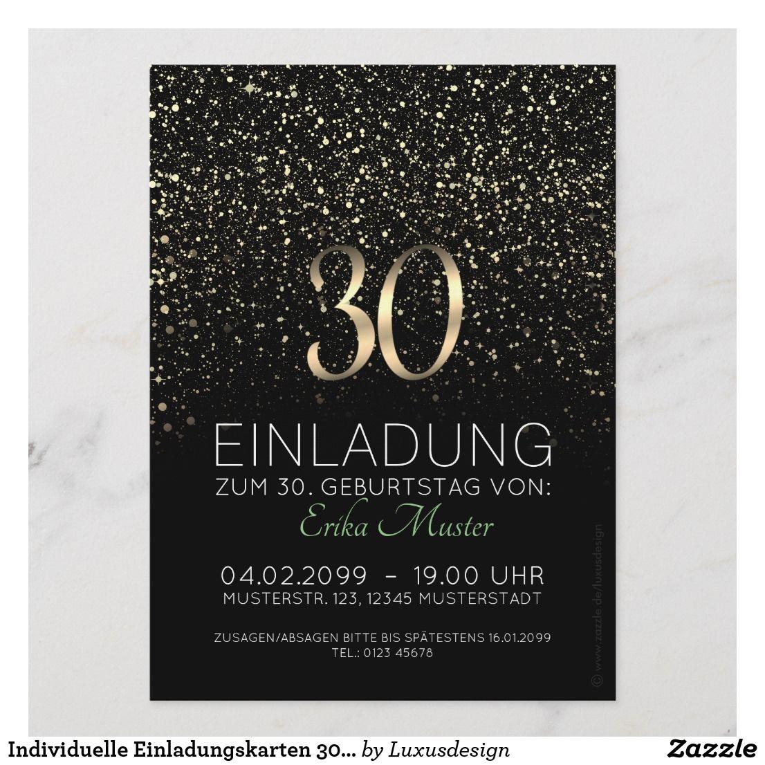 individuelle einladungskarten 30. geburtstag | zazzle.de