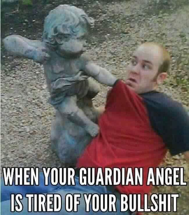 1d800061424fcd027ca4736f8a5cc4d3 when your guardian angel is tired of your bullshit humour