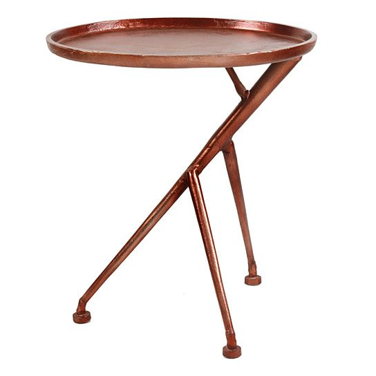 Conductor Side Table Bronze In 2020 Side Table Living Room Accent Tables Contemporary End Tables