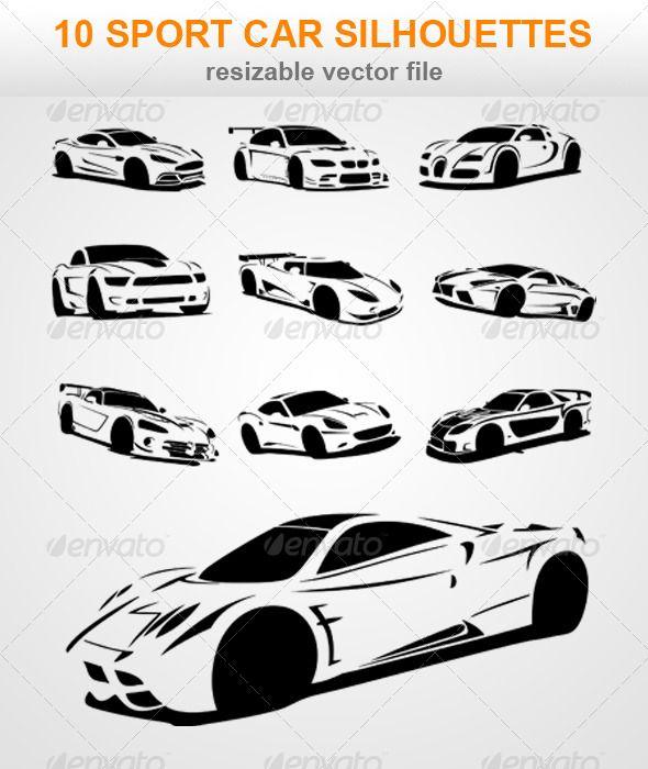 Sportscar Silhouette Diy Ideas Pinterest Car Silhouette Sport