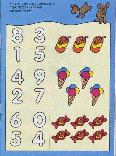 Atividades coloridas com numerais para educação infantil - ESPAÇO ...