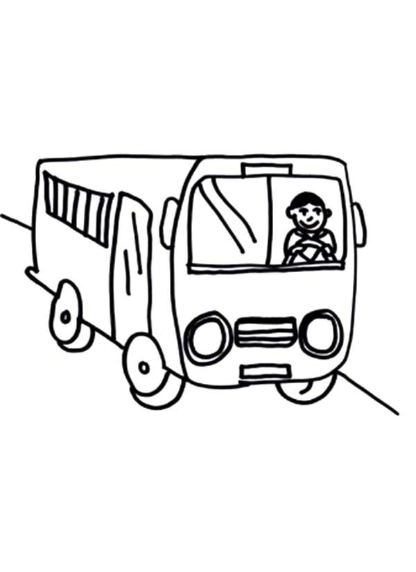 How To Draw Bus Driver Coloring Pages Best Place To Color Coloring Pages Drawing For Kids Bus Driver