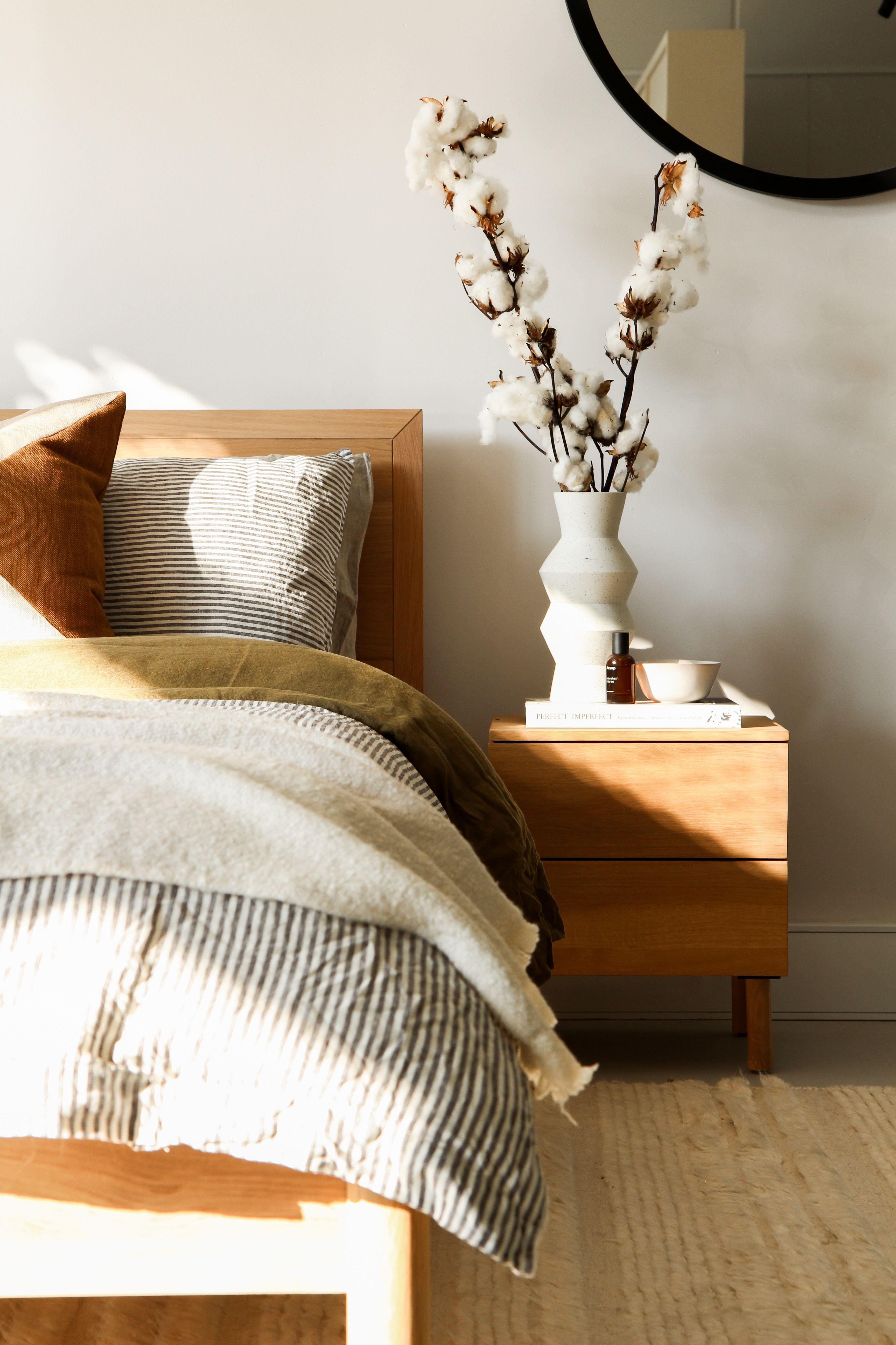 Harmony Bedside Table Oak Oak bedside tables, Bedside