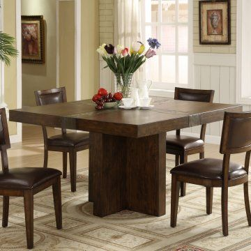 Riverside Belize Square Dining Table, needs a solid top and a few benches, but this is my future table :)