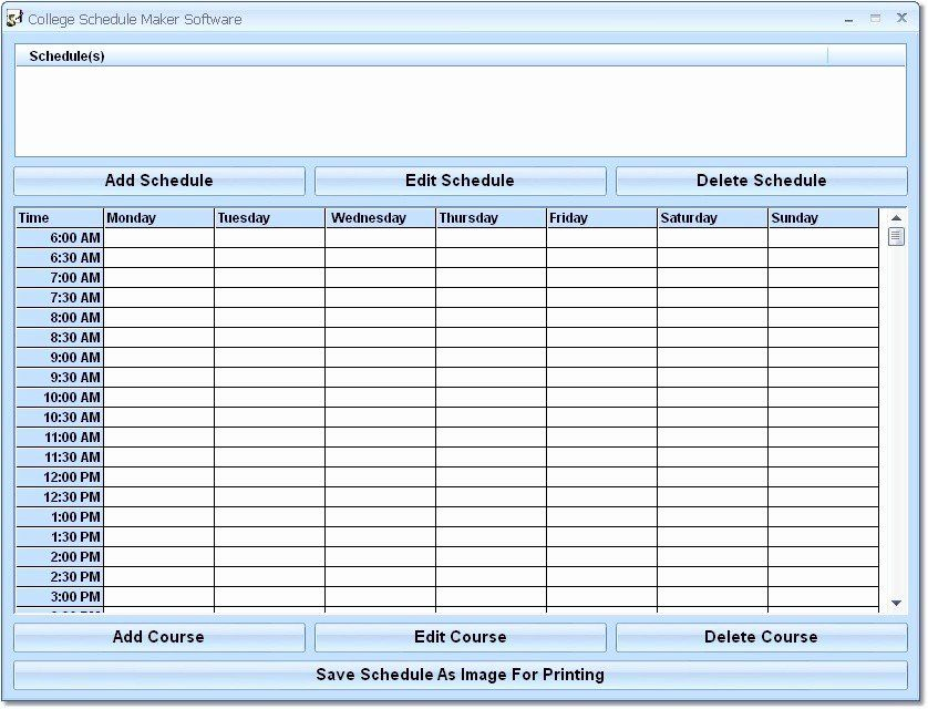class schedule maker free online awesome free download college schedule maker software