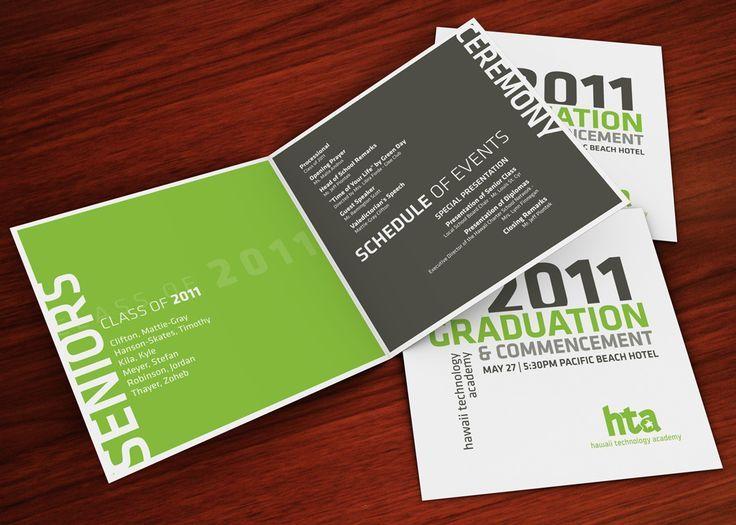 graduation program designs - Google Search commencement Design