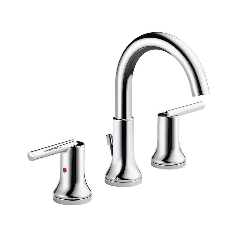 The Trinsic  collection of bath faucets and accessories from Delta Faucet  offers the great looks and quality engineering that fit your lifestyle. 3559 MPU DST Trinsic Widespread Bath Faucet w  metal pop up   Bath
