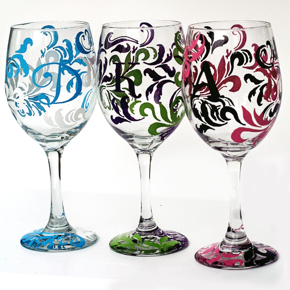 Make your table setting stand out with our scroll wine glasses. Two tone scroll with  sc 1 st  Pinterest & Make your table setting stand out with our scroll wine glasses. Two ...