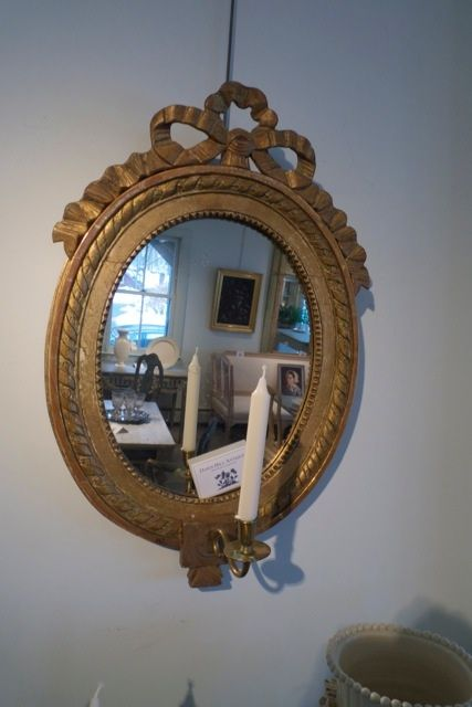 Mirrors are so decorative and practical above a sink or simply as art on a wall above a bathtub.