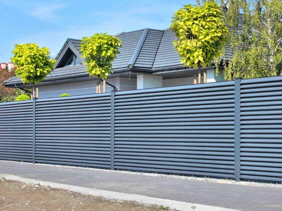забор из профнастила горизонтальный фото второго