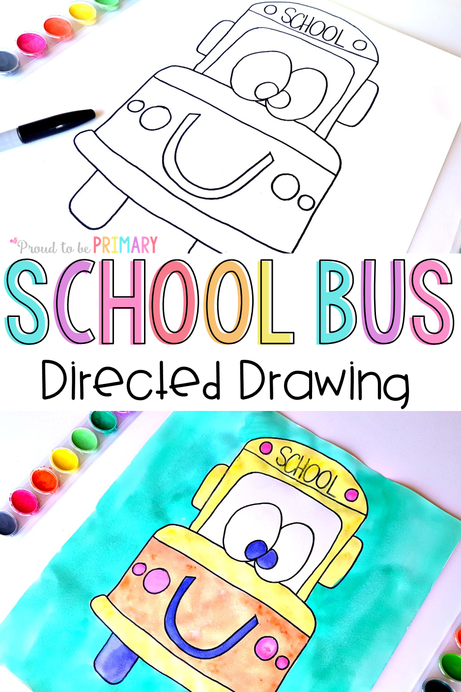 Back To School Bus Directed Drawing Art Activity For Kids It Includes Easy Diy Instructions To Download For Free To Use In Your Classroom Today