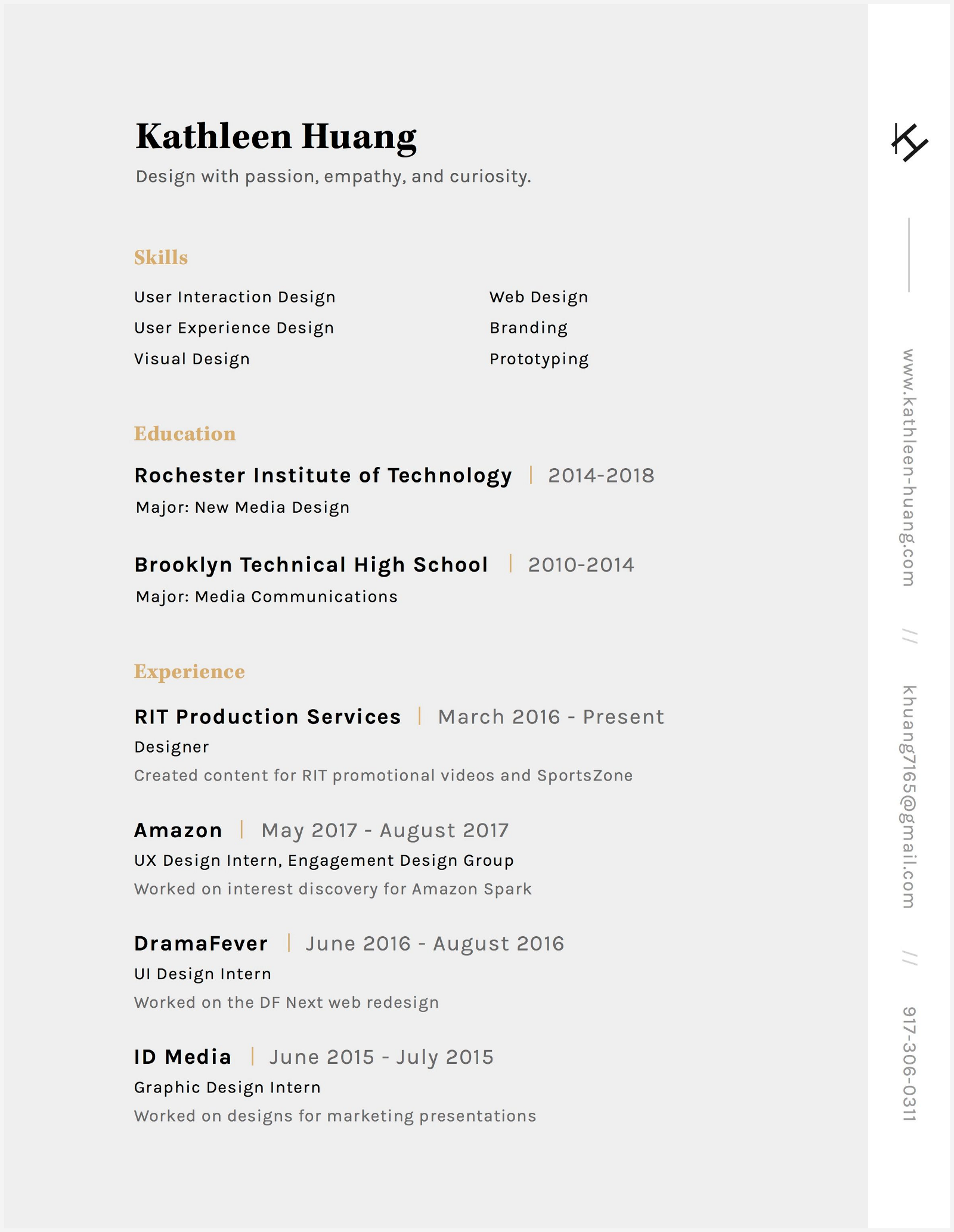 8 Outstanding Resumes that passed Facebook Product Designer\'s Bar ...
