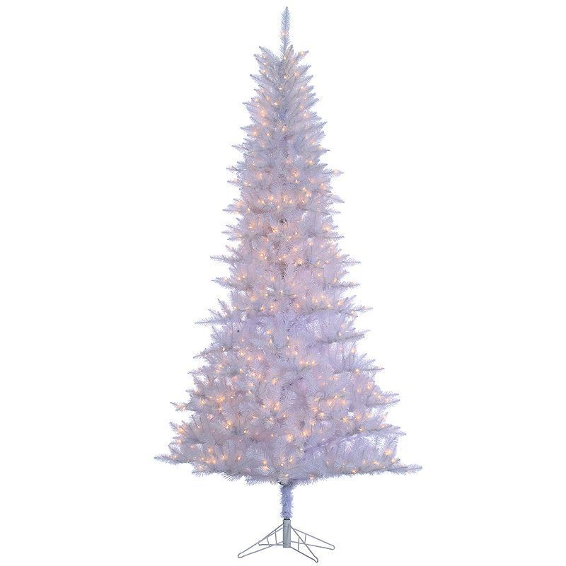 Sterling 9 White Tiffany Tinsel Artificial Christmas Tree