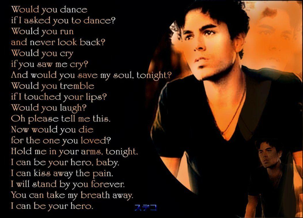 Hero Enrique Iglesias Lyrics Google Search Enrique Iglesias Lyrics Iglesias