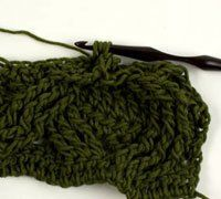 Easier crocheted cables